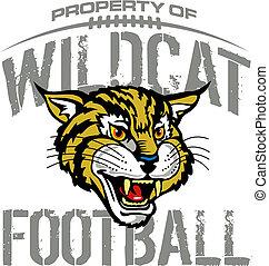 wildcat, fútbol, diseño, mascota