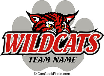 wildcats, diseño, mascota