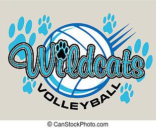 wildcats, diseño, voleibol
