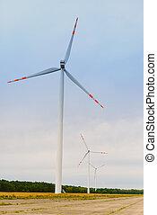 windturbine., producción, wind., energía, earth's, eco, natural, ecología, renovable, molino de viento, ingredients., ahorra, puro, fuerza motriz verde, electricidad