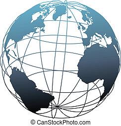 wireframe, globo terráqueo global, atlántico, latitud, tierra