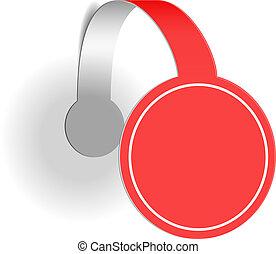 wobbler, publicidad, rojo