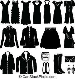 womens, ropa, moderno