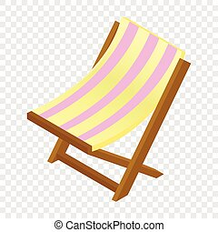 Wooden chaise salón isometric 3d icono