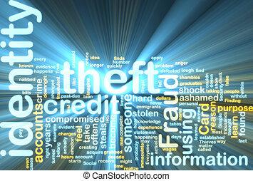 wordcloud, robo de identidad, encendido