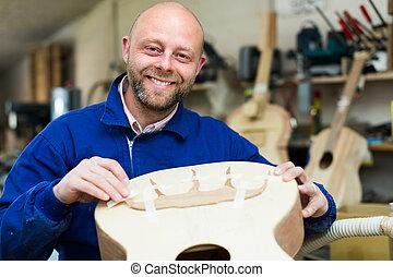 workshop., guitar-maker