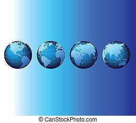 World - serie mundial de conjuntos - vector