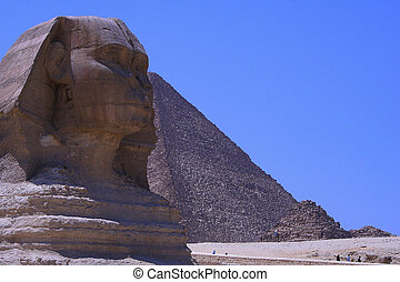 y, esfinge, pirámides
