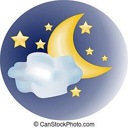 y, estrella, luna