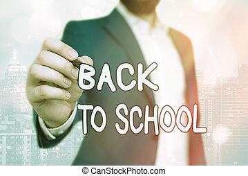 year., school., significado, concepto, comienzo, período, escuela, espalda, texto, nuevo, escritura, relativo