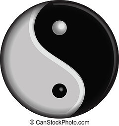 yin, símbolo, vector, yang