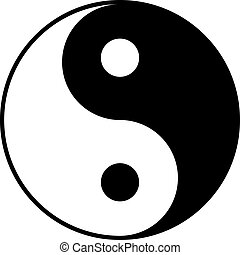 yin-yan, blanco, negro, símbolo