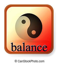 ying, símbolo, balance, armonía, yang