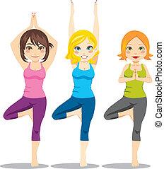 yoga, mujeres
