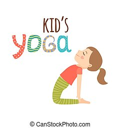 Yoga niños aislados diseño de logo