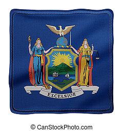 york, bandera del estado, nuevo