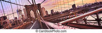 york, nuevo, ciudad, puente de brooklyn