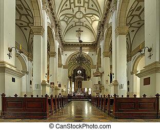 zamosc, interior, viejo, poland., catedral