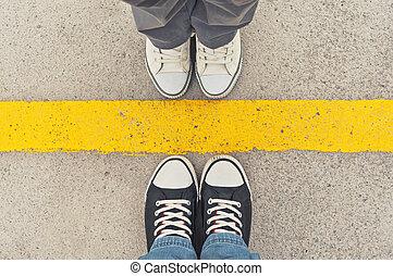 Zapatillas de arriba.