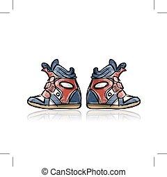 Zapatillas femeninas, boceto para tu diseño