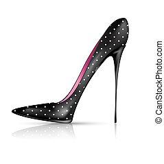 Zapato blanco negro