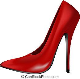 Zapato de tacón rojo