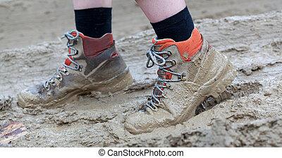 Zapato en barro