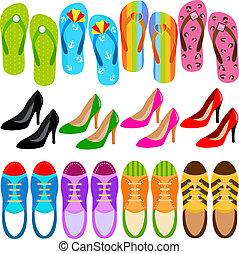 Zapatos (botas, tacones altos, zapatillas)