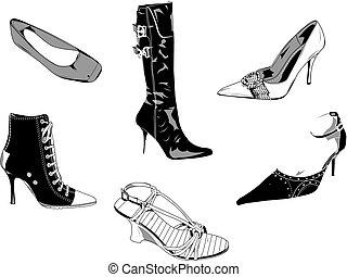 Zapatos clásicos de mujeres