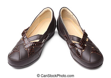 Zapatos de mujer de cuero marrón