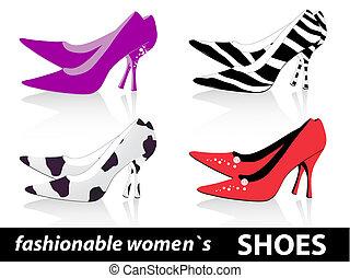 Zapatos de mujeres elegantes