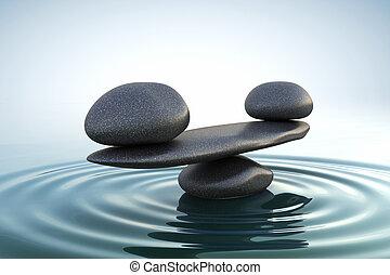 zen, balance, piedras