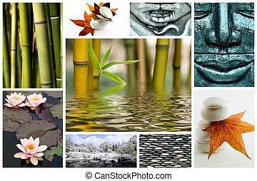 Zen como un collage de imagen
