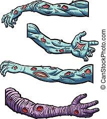 zombi, brazos