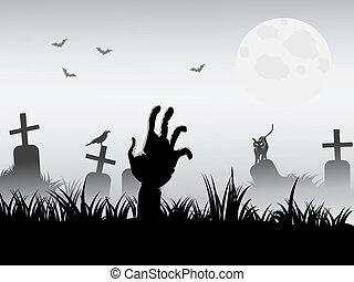 Zombie despertando