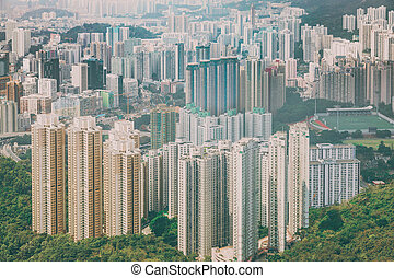 Zona residencial en Hong Kong