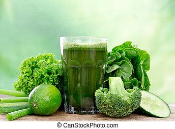 Zumo verde saludable
